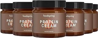 comprar comparacion foodspring Crema Proteica, Cacao y Avellanas, Pack de 6 x 200g, Extremadamente cremosa, Con 85% menos de azúcar