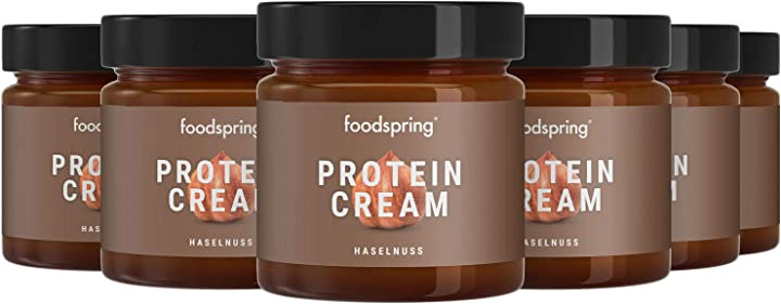 Crema proteica foodspring  - crema proteica, 6 x 200g, crema proteica spalmabile alla nocciola B07PV4M11T