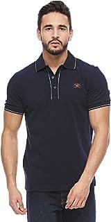 Louis Feraud Navy Shirt Neck T-Shirt For Men