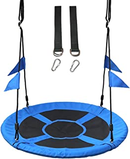 Take Me Away Saucer Tree Swing Seat with Straps for Children, 40 Inch Flying Saucer Swing for Kids