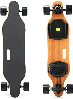 YWS Bamboo Electric Skateboard 35KM/H top Speed, 6002w Double Motor Easy to go Uphill, The Main Board is Made of 7 Layers of Maple Wood, with Strong Carrying Capacity and not Easy to Break
