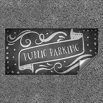 CGSignLab Public Parking 96x48 Chalk Banner Heavy-Duty Industrial Self-Adhesive Aluminum Wall Decal