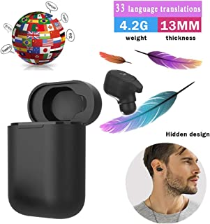 NIUJF Portable Bluetooth Wireless Voice Translation Headset 33 Languages Translator Earbuds Instant Real Time Intelligent for Business Learning Travel Driving Run Indoor Outdoor