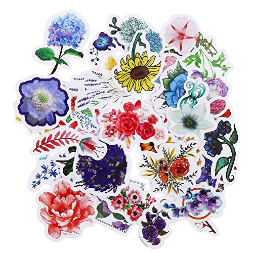 falllea 168 Stks Planten Bloemen Stickers, Scrapbooking Stickers Bloem Stickers Stickers Decals Voor Laptops Telefoon (4 sets)