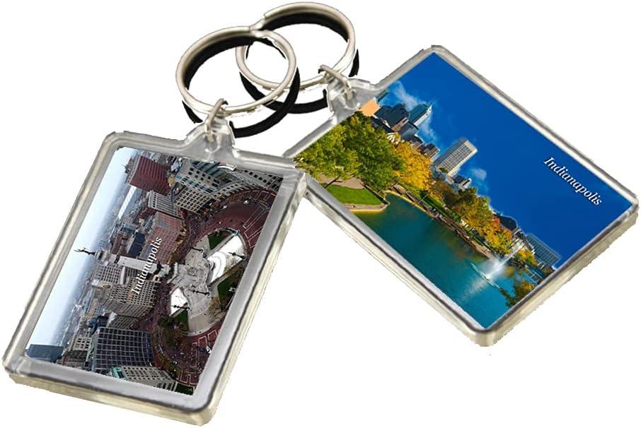 KR038 Indianapolis City Keychain United States Travel Photo Keyring