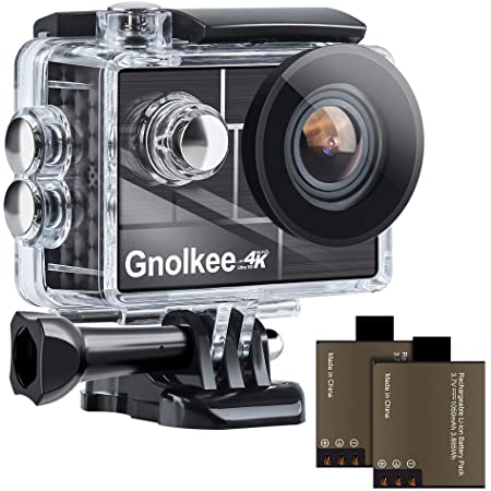 """Gnolkee 4K WiFi Action Camera, 100 Feet Waterproof Camera with 170 Ultra Wide Angle Lens, 2"""" IPS Screen Underwater Camera with Accessories Kit for Go pro PC Webcam YouTube/Vlogging Video"""
