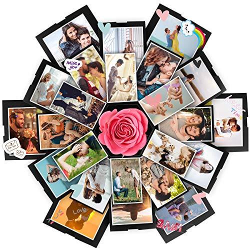 Yunhany Direct 5-laags Explosion Box DIY fotoalbum Scrapbooking verrassing geschenkdoos voor verjaardag Valentijnsdag