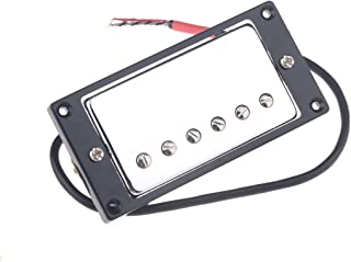 Musiclily 50mm Humbucker Pickups Double Coil Neck Pickup for Les Paul Style Electric Guitar, Chrome