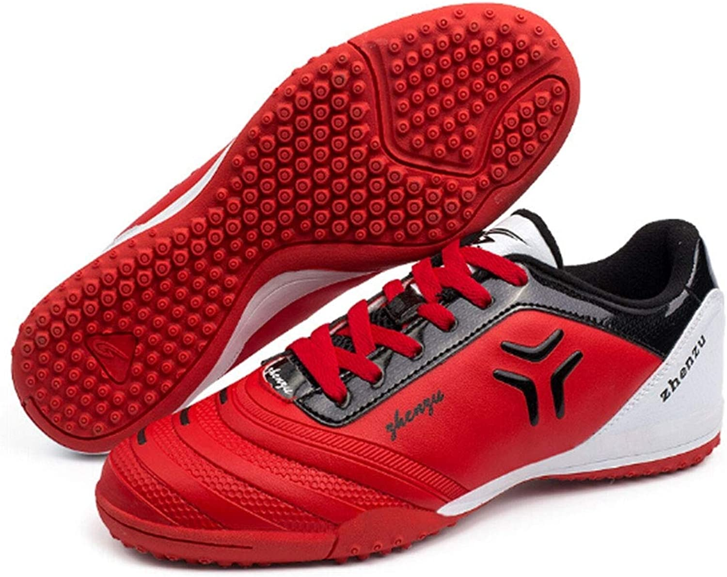 Godlikematealliance Outdoor&Sports shoes Zhenzu Outdoor Sporting Professional Training PU Football shoes, EU Size  30(Red)