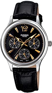 5066e5aad Casio Womens Quartz Watch, Analog Display and Leather Strap LTP-2085L-1AVDF