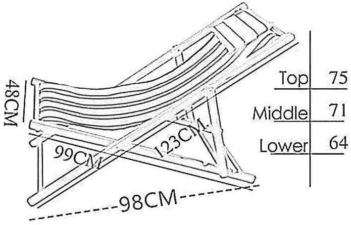QYZHCP Chaise, Chaise De Plage Extérieure, Fauteuil Inclinable, Chaise Longue, Chaise For Déjeuner, Chaise En Bois Rayée (Color : E) B