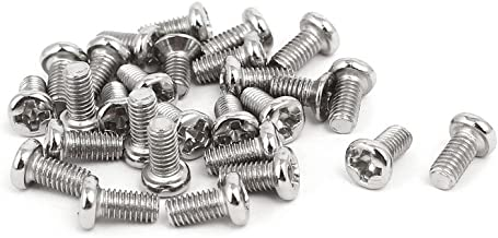 uxcell a17020800ux0390 M3 x 6mm Phillips Drive Fully Thread Pan Head Bolts Machine Screws Pack of 25