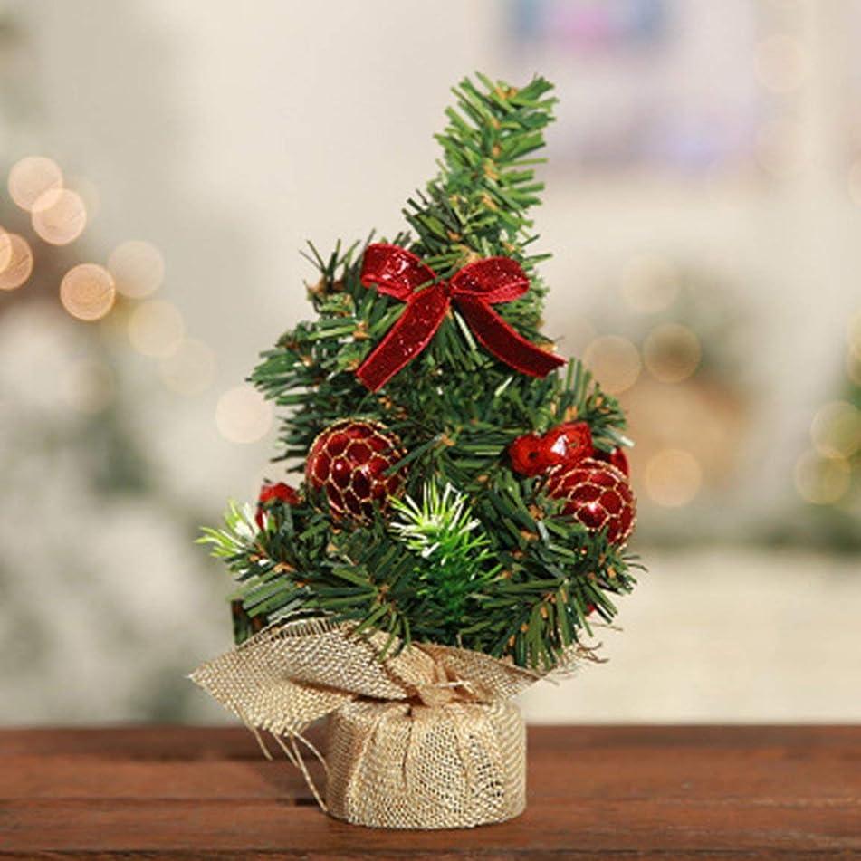 竜巻権利を与える有限新しいミニ小さなクリスマスツリー小さなクリスマスツリークリスマスデスクトップ装飾リネン小さなツリー明るい布小さなツリー不織布小さなツリークリスマスツリー装飾20 cm-