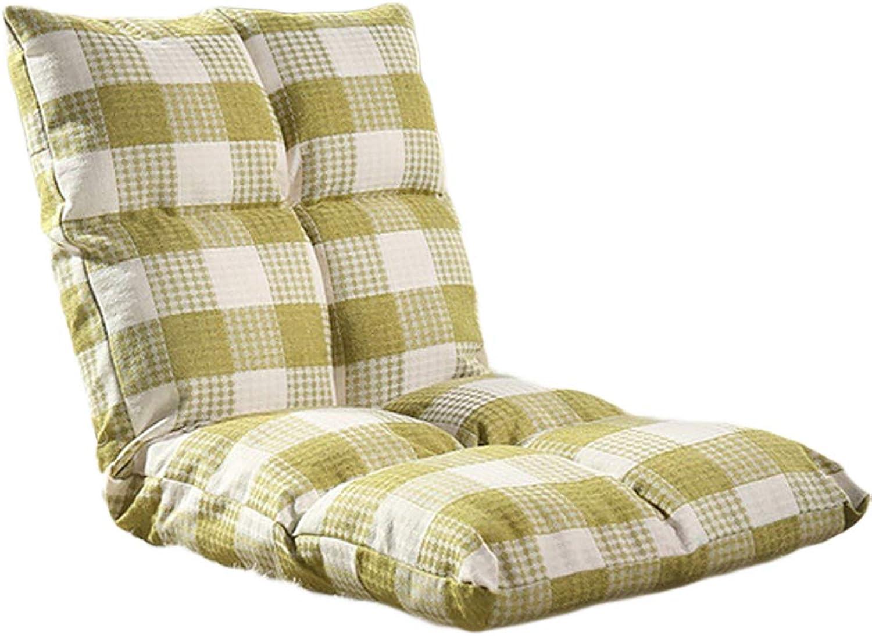 DULPLAY Tatami Lazy Couch Chair Pads Foldable Chair Cushion,Single Small Sofa Dormitory Bay Window Japanese Chair Pads-F 100x50x30cm(39x20x12inch)