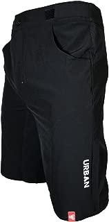 Urban Cycling Apparel Flex I MTB Trail Shorts - Flex Soft Shell Mountain Bike Shorts with Seamless Under Panel