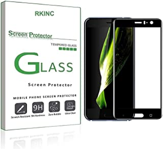 RKINC Screen Protector for HTC U11, [1 Pack] Full Coverage Tempered Glass Clear Screen Protector [9H Hardness][2.5D Round ...