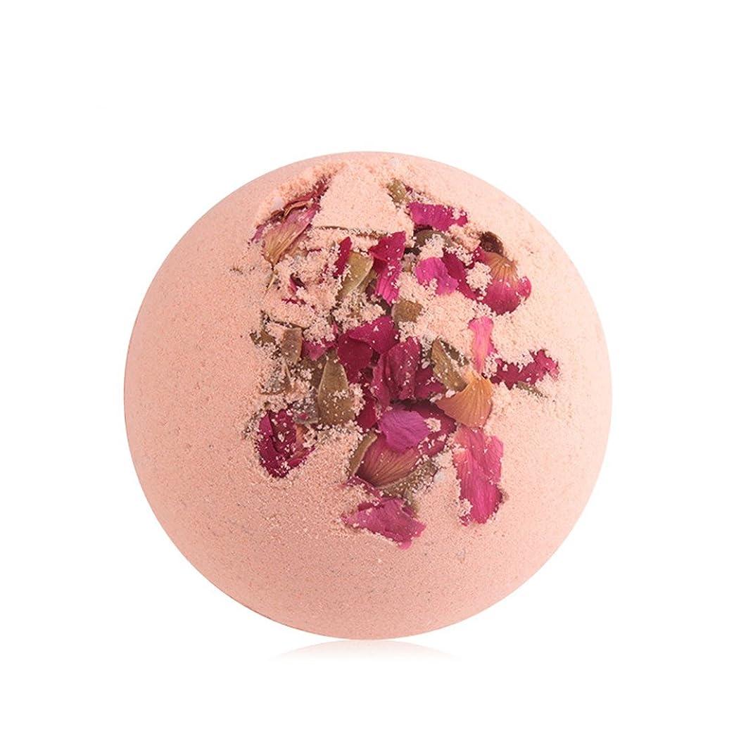 ひもカウント植物学者ROSENICE バスソルトバス爆弾スパバブルバスボディエッセンシャルオイルバスボール(ローズ)