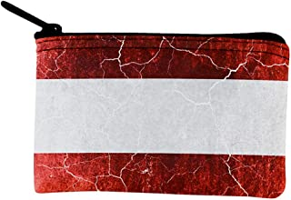 Old Glory Austrian Flag Distressed Grunge Coin Purse Multi Standard One Size