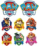 PAW Patrol Group - Chase Marshall Rocky Rubble Skye Zuma - For Light-Colored Materials - 8 Iron On Heat Transfers