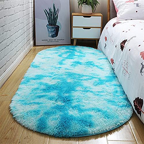 SCAYK Alfombra Moderna Simple elipse Oval del teñido de alfombras Inicio cabecera del Dormitorio Alfombra Rectangular Espesado Lindo Mat gradiente Dormitorio Alfombra alfombras Grandes Cocina