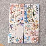 PMSMT 100 páginas/Set Nueva Historieta Tres Ojos Sirena Princesa Cuaderno Lindo Ardilla Diario Libro portátil Bloc de...