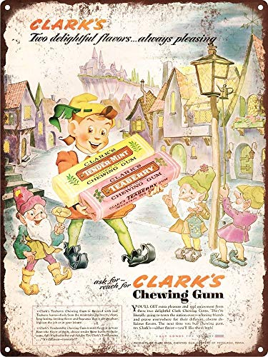 Yohoba 1943 Clark'S kauwgom Teaberry Tender-Mint metalen bord Repro 12