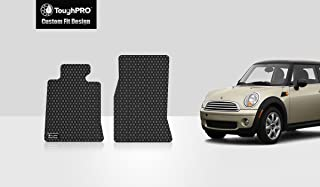 ToughPRO Floor Mats (Front Row Set) Compatible with Mini Cooper Hardtop - All Weather - Heavy Duty - (Made in USA) - Black Rubber - 2007, 2008, 2009, 2010, 2011, 2012, 2013