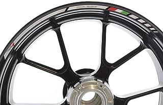 IMPRESSIATA Aprilia RS4 Motorrad Felgenrandaufkleber SpecialGP Weiß Komplettset Aufkleber Sticker