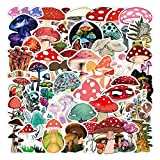 50 Pcs Waterproof Mushroom Waterbottle Stickers for Teens Boys Girls,Cute Cartoon Anime Stickers Pack for Computer Laptop Waterbottles Tablet Phone Luggage Car, Graffiti Decal [Agaricus Campestris]