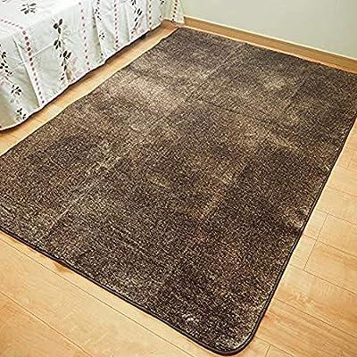 福井山本 ラグ ブラウン 185×185cm