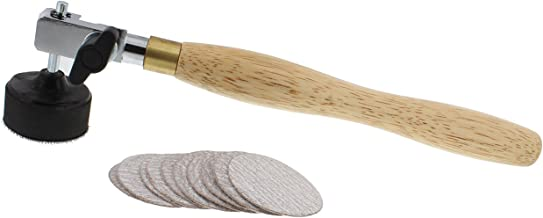 DCT Wood Bowl Hand Sanding Tool and 10-Pack Set of 2in Small Mini Round Abrasive Sand Pad..