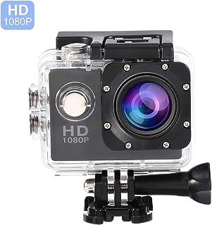 Vbestlife Videocámara Deportiva a Prueba de Agua 1080P Ultra HD 32GB Action Camera al Aire Libre de Baterías Recargables con Soporte para Buceo Nadar Ciclismo etc. (Negro)