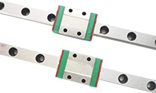 TEN-HIGH Linear Rail, 2pcs CNC Parts MR9 MGN9 Miniature Linear Guide Rail Way Slide 350mm+2pcs MGN9H Slider Miniature Linear Motion Guide Way