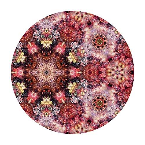 Moooi Carpets Festival Inferno Teppich rund Ø350cm, pink schwarz