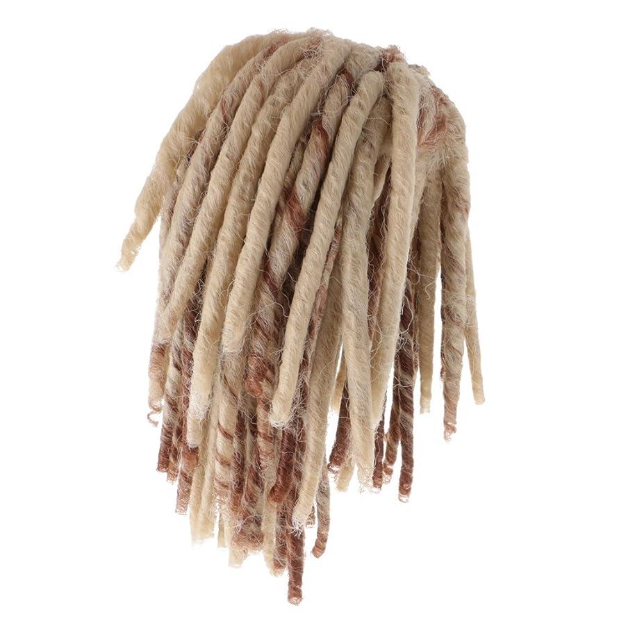 隙間一口あいまいなDovewill 人形用ウィッグ  ドレッドかつら  カーリー かつら  髪 ヘア 18インチドール用  DIY修理用品  全2色  - ブラウン