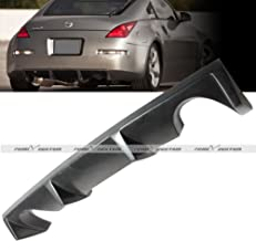 Rear Body Kit Shark Fin Diffuser Bumper PU Lip Spoiler Compatible with 2003-2008 Nissan 350Z Z33