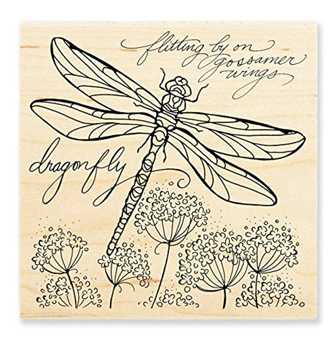 STAMPENDOUS Wood Stamp, Dragonfly Wings