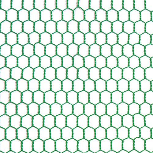 ダイドーハント (DAIDOHANT) (金網) ビニール 亀甲金網 グリーン (線径d)#20(0.85mm) x (目合a)10mm/(幅W)910mm x (長さL)5M 1巻入 10160290