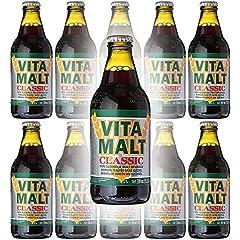 Vita Malt Classic, Non-Alcoholic Malt Beverage, 11oz Glass Bottle (Pack of 10, Total of 110 Fl Oz) Non-Alcoholic Malt Beverage. Excellent for those who enjoy a malt beverage without the alcohol.