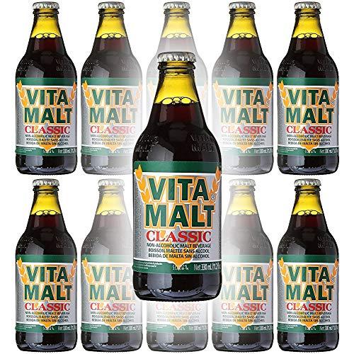 Vita Malt Classic, Non-Alcoholic Malt Beverage, 11oz Glass Bottle (Pack of 10, Total of 110 Fl Oz)