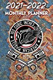 2021 - 2022 Monthly Planner: Harley Davidson Old School VTwin  Legend Motorcycle 103 Cubic Inches of American Muscle Skull Crossed Pistons