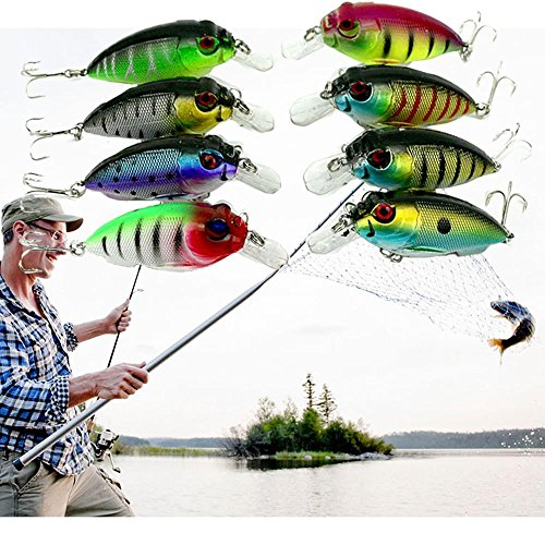 Why Should You Buy ZIYUO Lot 8Pcs Fishing Lures Kinds of Minnow Fish Bass Baits Tackle Hooks Fishing...