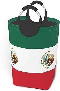 N\A Paniers de Rangement du Drapeau Mexicain Panier à Linge Sale Flexible Sac Organisateur écologique Sac de tri Amovible ...