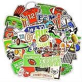 Adesivo Sportivo da Rugby Festa a Tema Calcio Adesivi Impermeabili Regalo Fai da Te Laptop Valigia Adesivi per Auto e Decalcomanie 50 Pz