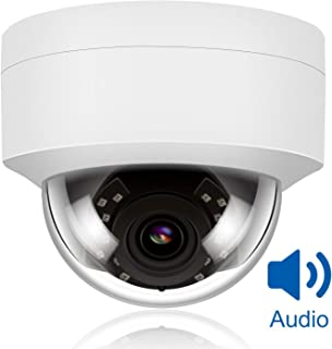 Anpviz 5MP PoE IP Dome Camera with Microphone, Audio, IP Security Camera Outdoor Night Vision 98ft Weatherproof IP66 Indoor Outdoor ONVIF Compaliant Wide Angle 2.8mm, Compatible Hikvision #IPC-D250W-S