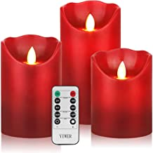 YIWER Flameless Candles, Φ3.15 xH 4