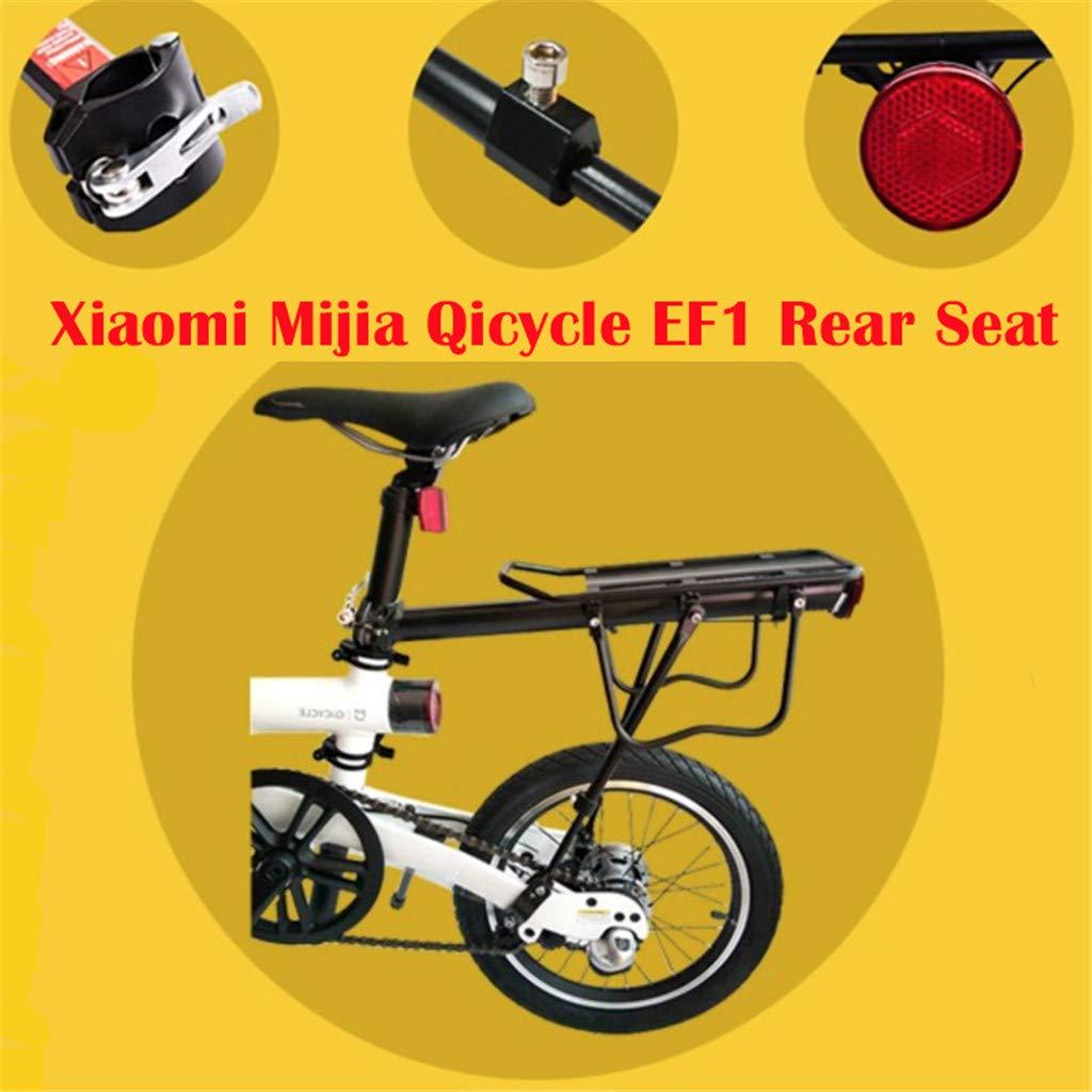 SMILEQ Accesorios para Bicicletas Asiento Trasero Trasero para Xiaomi Mijia Qicycle EF1 Smart Scooter eléctrico E-Bike (Negra): Amazon.es: Deportes y aire libre