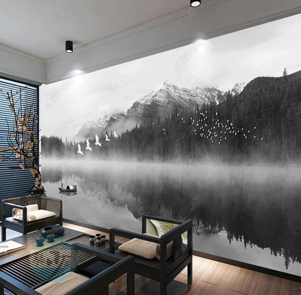 Wall Murals Wallpaper Forest Mountain Easy-to-use New arrival Peak Reflection Lake Water