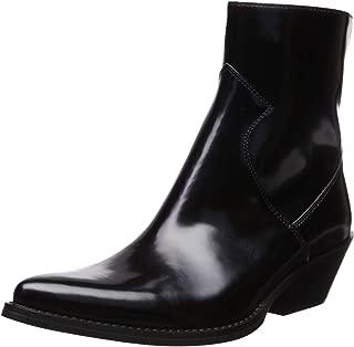 Calvin Klein Jeans Women's Arianna Ankle Boot, Black Box Calf, 11 M US