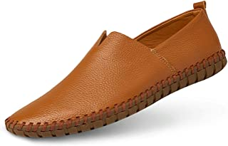 Men's Genuine Leather Loafer Shoes Slip On Soft Walking Driving Shoes